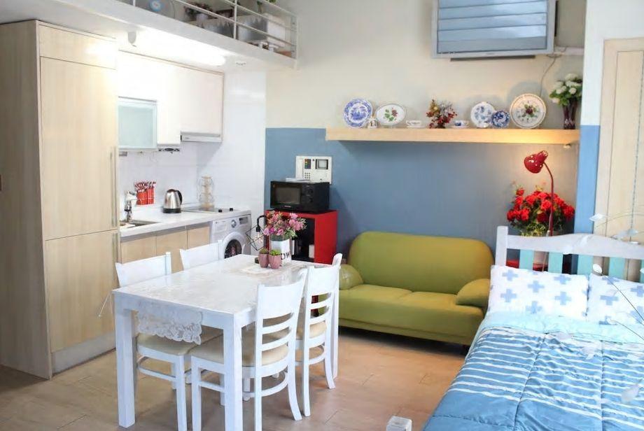 5.55平米の広いお部屋に7名まで宿泊可/釜山市