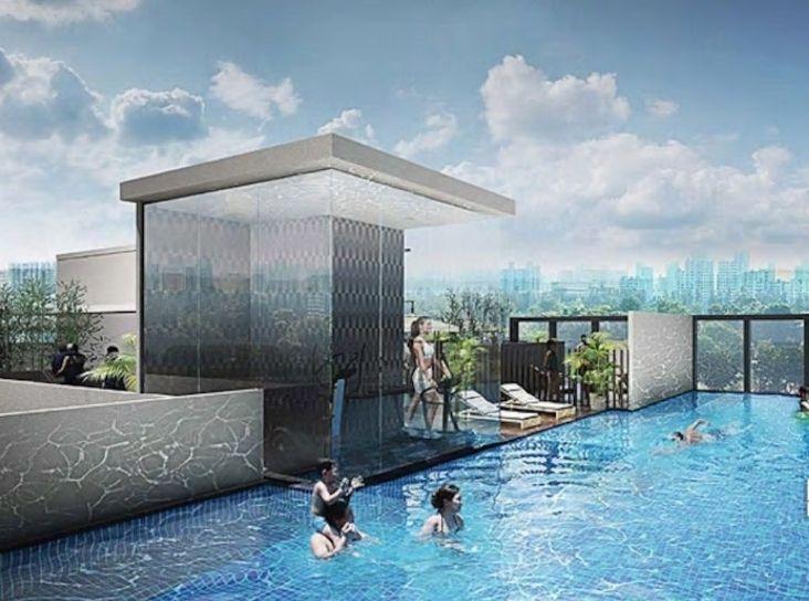 7.マリーナベイへも近く、素晴らしい眺望の屋上プールも!