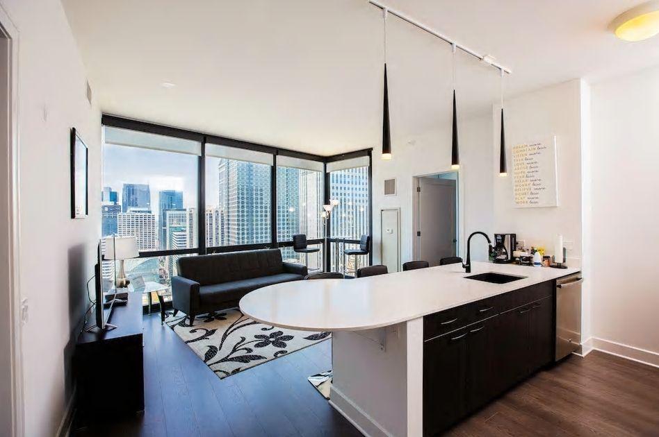"""5.シカゴの中心""""ループ""""に位置、高層階で眺望抜群"""