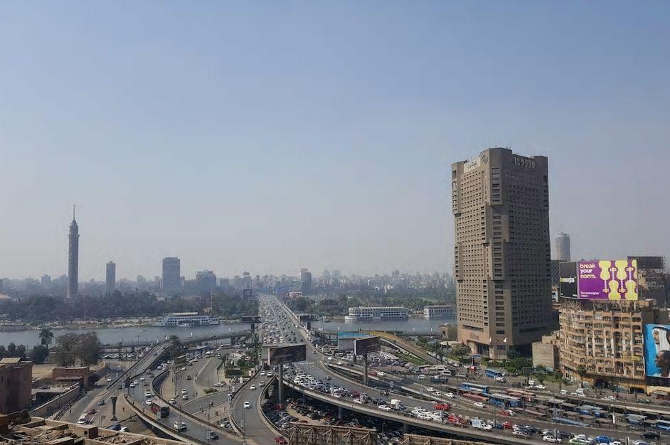 3.ナイル川と市街地を一望、エジプト考古学博物館も近くに