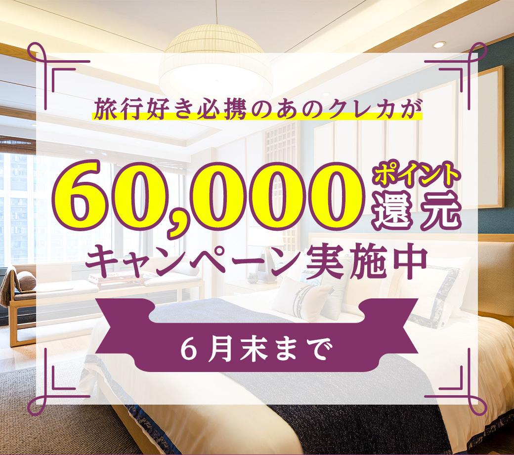 60,000ポイント獲得!超絶お得なキャンペーン中